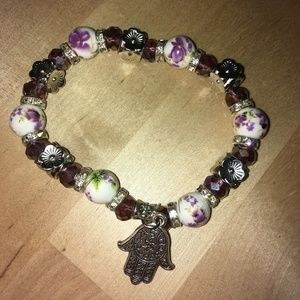 Hamsa Protection Bracelet (Purple)